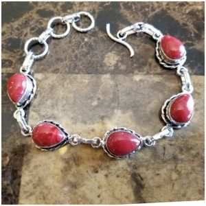 Jewelry - Cherry Colored Natural Carnelian Bracelet 9.25""